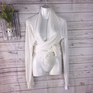 Pure DKNY linen blend cardigan wrap small
